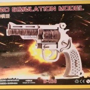 3D Puzzle - Revolver